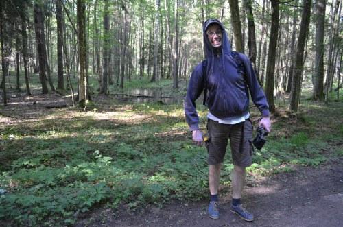 Będąc w BPN pamiętajcie o długich spodniach. Inaczej skończycie tak jak Paweł - jako lunch dla komarów i much!