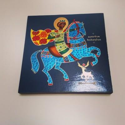 Ikona św. Huberta - magiczny prezent od prababci :)