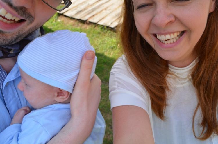 Pierwsze rodzinne selfie skończyło się... ulaniem ;)
