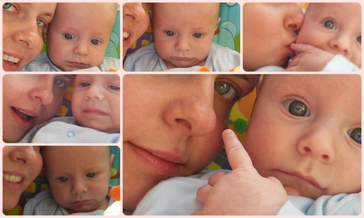 Nieudolne próby zrobienia sobie selfie z synem... Mina Pandemoniusza Ssakoliona mówi wszystko...